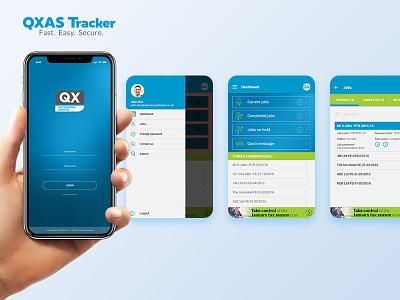QXAS Tracker design ux ui app task tracker tracker qxas accounting