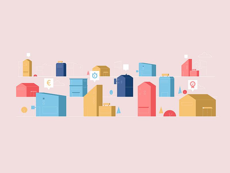 City cityscape buildings landscape city illustrator design illustration