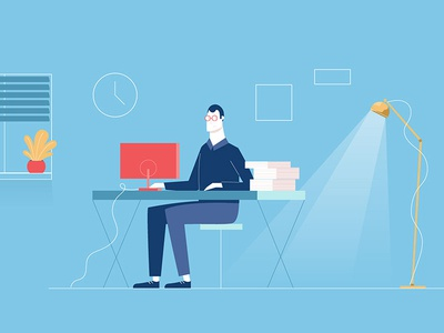 Office work office desk men character design illustrator graphic design illustration