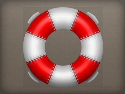 Icon - Support life ring lifesaver support illustrative icon