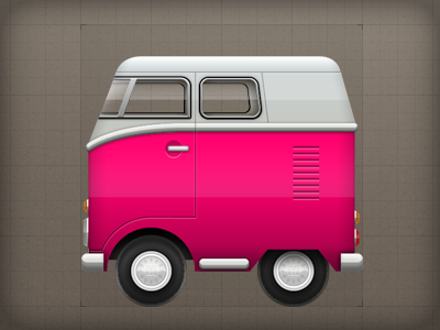 Icon - Vehicle Assets icon illustrative vehicle van