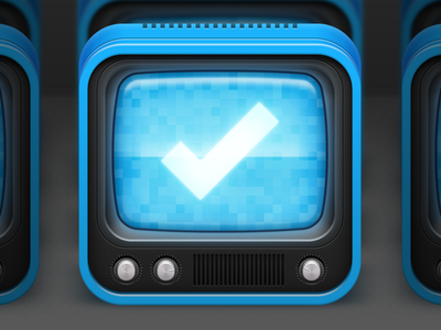Episodes App Icon app icon illustrated icon icon television television set tv tv set episodes