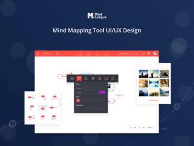 Mind League - Mind Mapping Tool UI/UX Analysis Design