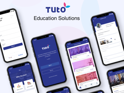 """Tuto"" Educational Application UI Design"