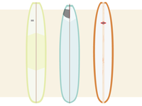 Longboard illustrations