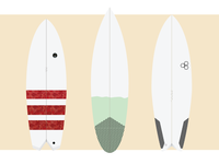 Shortboard illustrations