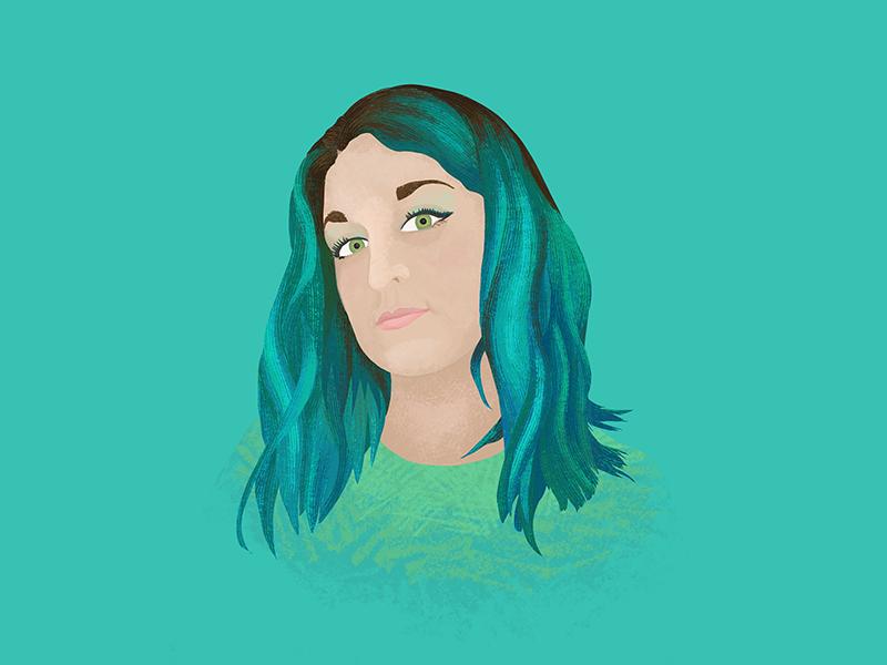 Selfie @ 35 color palette self portrait portrait procreate ipadpro illustration