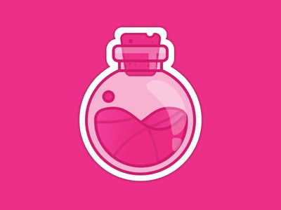 Dribbble Lab ball icon design rebound sticker flat icon illustration sticker mule playoff dribbble