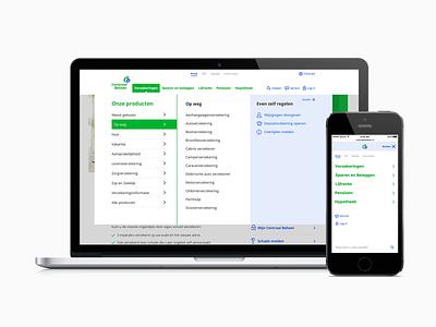 Centraal Beheer Navigation Menu ux design webdesign website navigation navigation menu