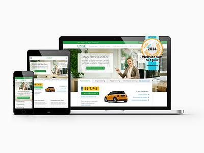 Unive Verzekeringen my profile insurance ux design responsive web design