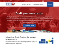 Sports Cards Fantasy Draft marketing site