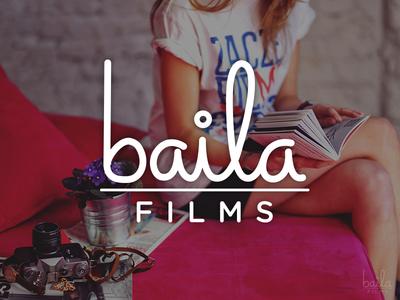 Baila Films Logo logo film simple type