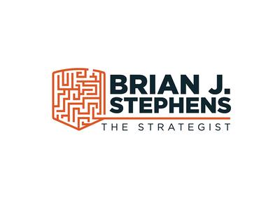Logo for Public Strategy Identity strategy shield maze logo personal identity identity