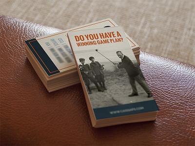 Business Cards business cards modern vintage old photos orange blue