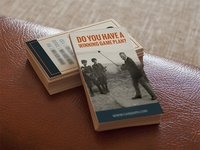 Business Cards business cards modern vintage old photos orange blue