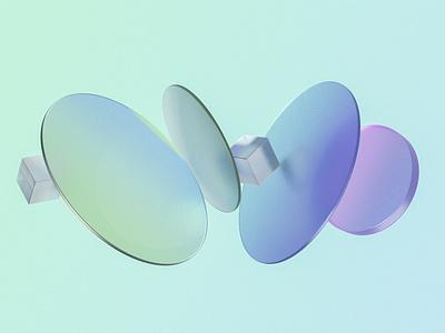 Gradient glasses gradient glasses 3d art cinema4d branding 3d