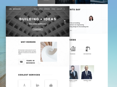Minimal & Clean Architecture website design! by Foqrul Islam - Dribbble