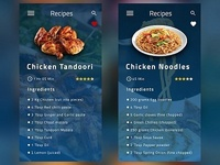 Recipes App UI Design