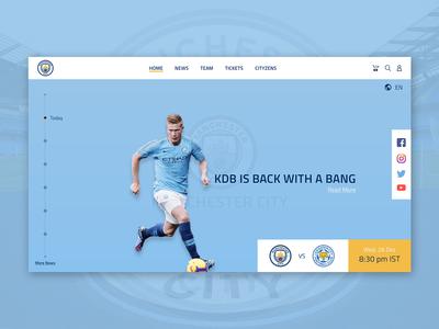 Manchester City UI Concept