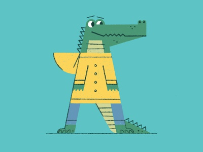 Animal Apparel Alphabet - A is for Alligator (in an Anorak).
