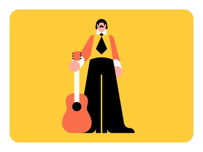60s Character Style Exploration vector sixties retro psych psychedelic psychedelia guitar character clean band 60s