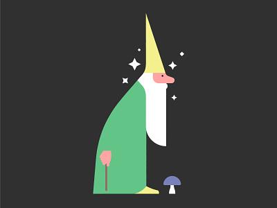 🧙♂️ wizard toadstool stars sorcerer shaman mushroom magician magic illustration fantasy