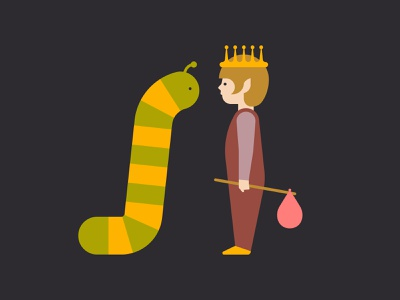 The Pixie King toddler pixie magic king illustration fantasy caterpillar boy