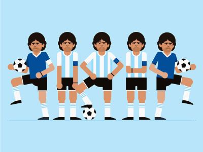 Maradona style frame style frame soccer motion design maradona illustration gif flat footballer football character design character argentina