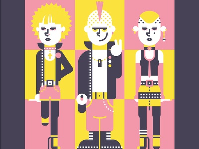 70s Punks subculture street style sex pistols seventies 70s punks punk mohican fashion dr martens character design character