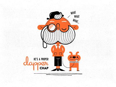 A proper dapper chap vintage sixties retro posh illustration hipster gentleman character design character chap 1960s