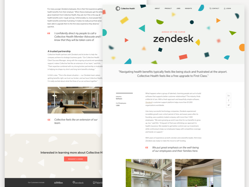 Case Study Zendesk By Avery Kim For Collective Health On Dribbble