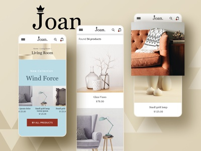 Joan. Design concept for a furniture store. designconcept ecommerce design ecommerce adobexd ux ui opencart