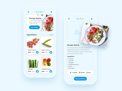 Buy Recipe App recipe app recipe food mobile ui mobile android ios application app design ecommerse ux ui
