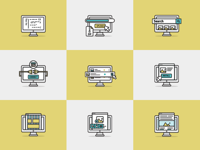 Icon set for modules. Part_7. ux ui opencart module iconset icons