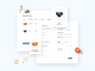 Page Cart and Checkout