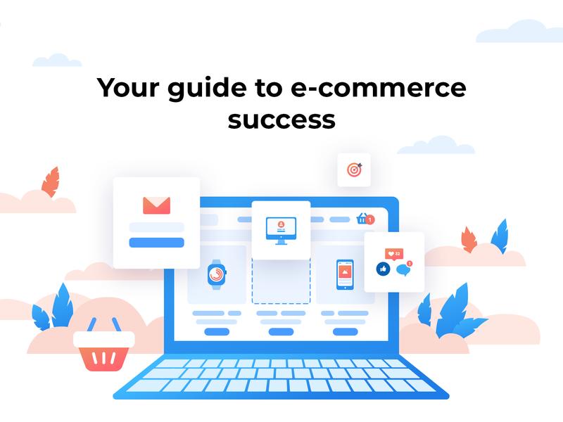 E-commerce illustration for Dreamvention branding vector illustration ecommerce opencart