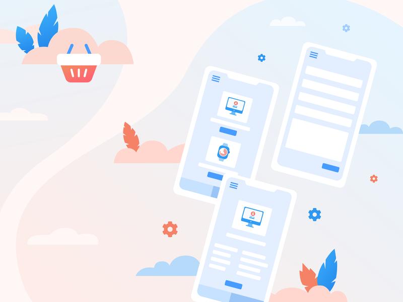 E-commerce illustration icons ecommerce vector illustraion