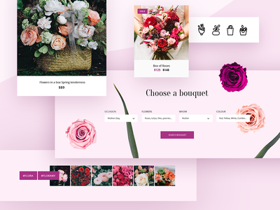 Flowers Theme uicomposition ux ui icons iconset themeforest envato ecommerse opencart flower theme template