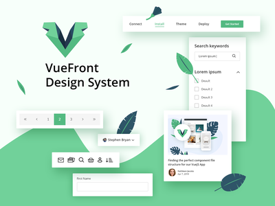 VueFront Design System icons illustration vuejs wordpress prestashop opencart ecommerse ux ui
