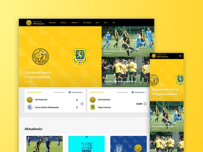 LKS Gołuchów website concept sports design ux ui ui  ux website design web design webstie web