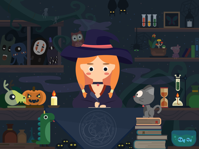 The Witch illustrations