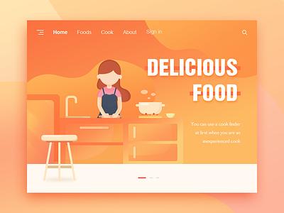 Delicious food ui、illustrations