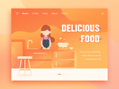 Delicious food ui、illustrations