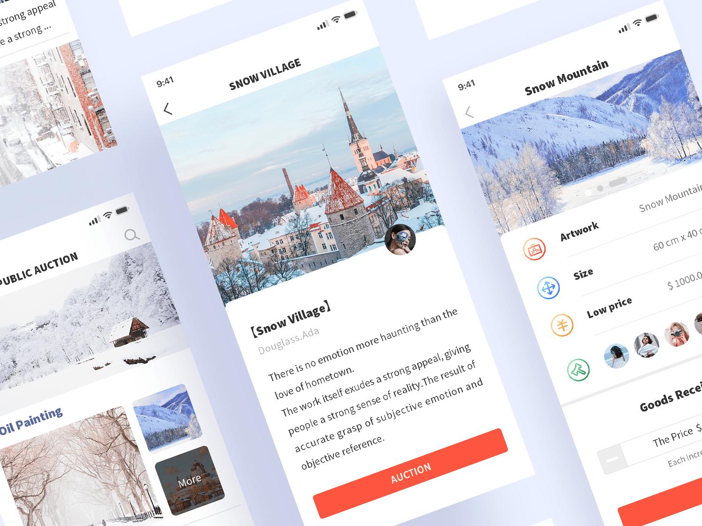 PUBLIC AUCTION PLATFORM ui app concept