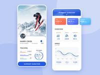 Ski APP ui app concept