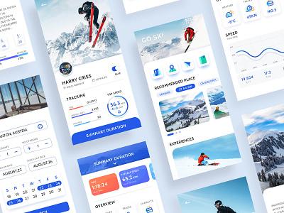 Ski APP-2 ui app concept