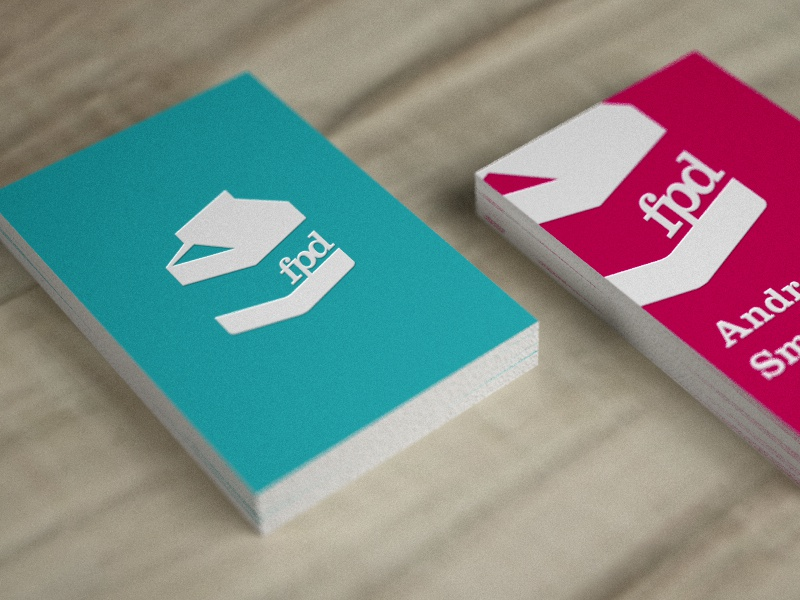 Testing with Embossing & Spot Varnishing business card render realistic