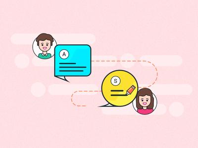 Admin Seller Chat illustration falt ecommerce mobile app app builder admin seller chat photoshop