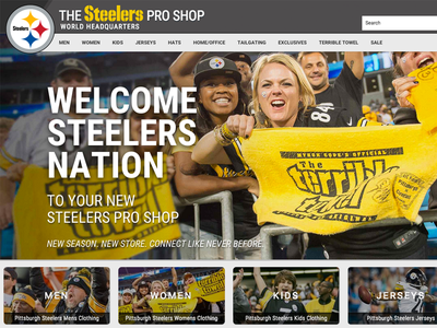 New Steelers Site Launch football mobile mobilefirst responsive sports nfl ecommerce e-commerce