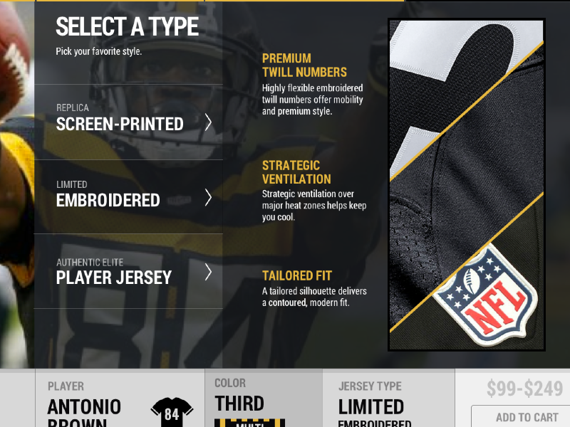 Jersey Buying Experience buy product steelers ecommerce nfl